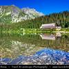 Europe - Slovakia - Slovak Republic - Slovensko - High Tatras - Vysoke Tatry - Highest mountain range of Eastern Europe - Popradské pleso - Glacier lake in Mengusovska dolina at 1,494 m / 4,901 ft above sea level