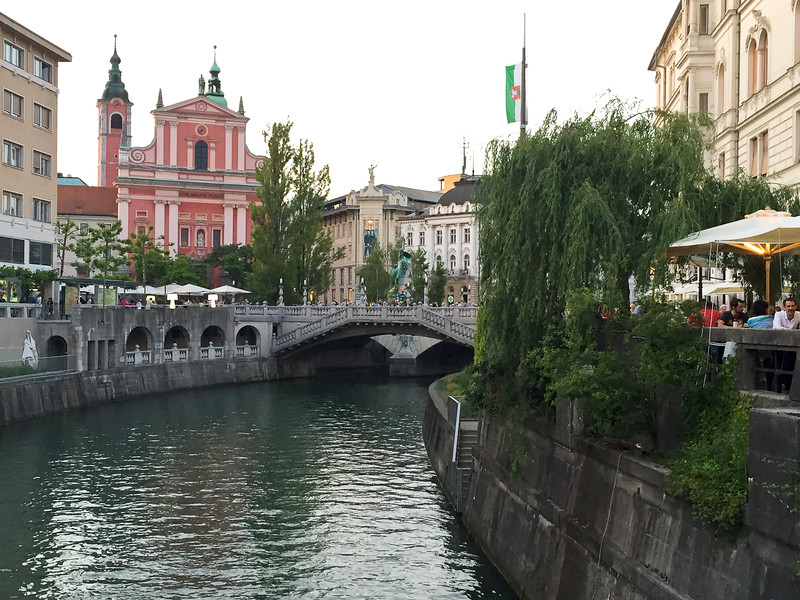 Along the river in Ljubljana