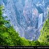 Europe - Slovenia - Slovenija - Julian Alps - Triglavski National Park - Boka Waterfall - With sheer vertical drop of 106m (and second drop of 30m), Boka is the highest waterfall in Slovenia