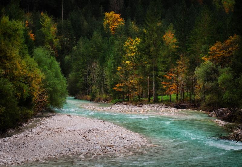 Soca river in Autumn