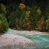 Soca river in Autumn