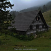typical mountain hut in the Julian Alps