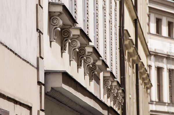 Building detail on Nerudova Street