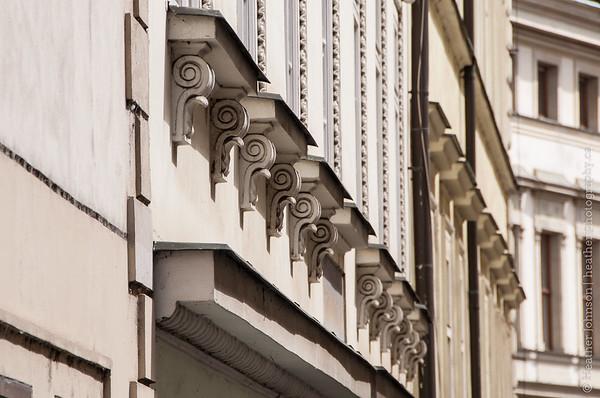 Building detail on Nerudova Street