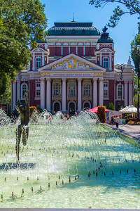 Fountain in front of the Ivan Vazov National Theater