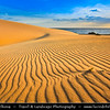 Europe - Spain - España - Canary Islands - Islas Canarias - the Canaries - Canarias - Fuerteventura -  Parque Natural de las Dunas de Corralejo - Natural Park of the Sand Dunes of Corralejo - White Sand Dunes at Atlantic Ocean
