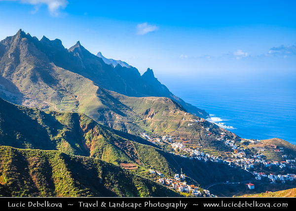 Europe - Spain - España - Canary Islands - Islas Canarias - the Canaries - Canarias - Tenerife Island - Parque Rural de Anaga - Anaga Country Park - Large part of the massif at the north-eastern end of Tenerife Island