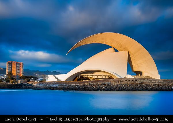 Europe - Spain - España - Canary Islands - Islas Canarias - the Canaries - Canarias - Tenerife Island - Santa Cruz de Tenerife - Auditorio de Tenerife Adán Martín - Architectural symbol of the city of Santa Cruz de Tenerife