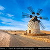 Europe - Spain - España - Canary Islands - Islas Canarias - the Canaries - Canarias - Fuerteventura - Tefia Windmill
