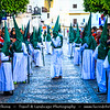 Europe - Spain - España - Andalucía - Andalusia - Cádiz Province - Arcos de la Frontera - Santa Semana - Holy Week - Processions of the brotherhoods or fraternities - Vibrant celebrations, with religious origins, during days leading up to Easter Sunday
