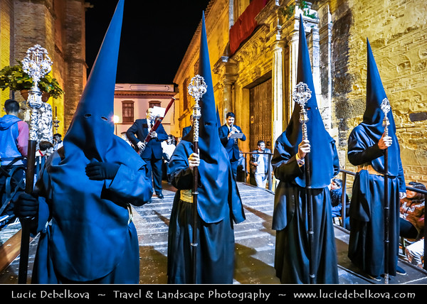 Europe - Spain - España - Andalucía - Andalusia - Seville Province - Carmona - Historical town with Moorish walls - Santa Semana - Holy Week - Processions of the brotherhoods or fraternities - Vibrant celebrations, with religious origins, during days leading up to Easter Sunday