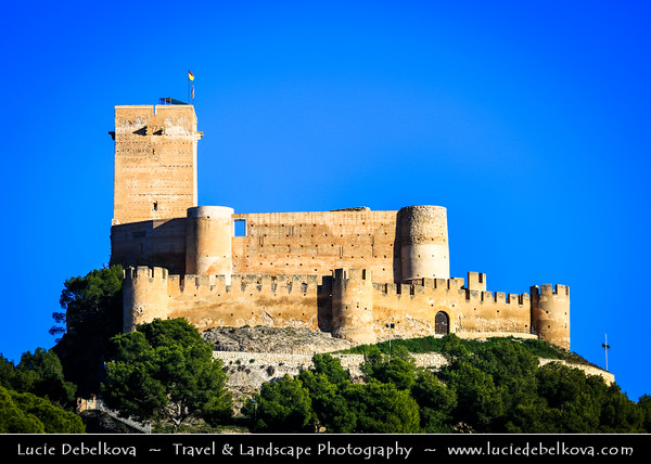 Europe - Spain - España - Alicante Province - Biar - Castle of Biar stands on hillock overlooking town of Biar