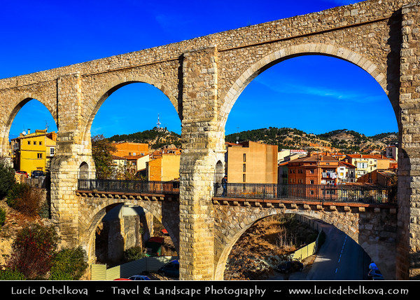 Europe - Spain - España - Aragon - Teruel Province - Teruel - High-altitude town in the mountainous Aragon region known for classic Mudéjar architecture, style combining Gothic and Islamic elements