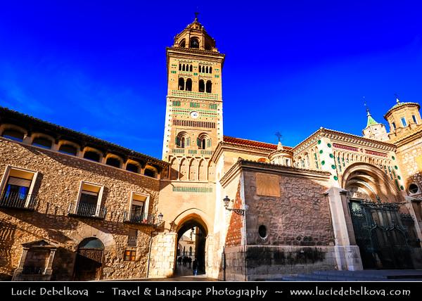 Europe - Spain - España - Aragon - Teruel Province - Teruel - High-altitude town in the mountainous Aragon region known for classic Mudéjar architecture, style combining Gothic and Islamic elements