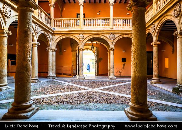 Europe - Spain - España - Castile-La Mancha - Albacete Province - Almansa - Historical town with Castillo de Almansa - Impressive Almansa castle built on top of rock crowning city of Arab origin