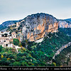Europe - Spain - España - Valencia Province - Chulilla - Beautiful historical village with city walls over limestone gorge