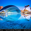 Europe - Spain - España - Valencia - València - City of Arts and Sciences - Ciutat de les Arts i les Ciències - Ciudad de las Artes y las Ciencias - Impressive architectural complex by renowned Spanish neofuturistic architect, structural engineer, sculptor and painter Santiago Calatrava - Important modern tourist destination