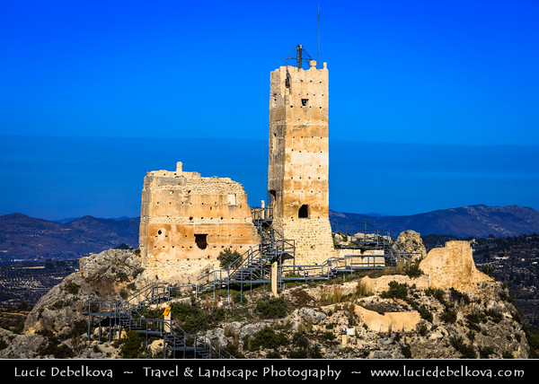 Europe - Spain - España - Cocentaina - Penella castle - Castillo de Penella - Castle built in 12-th Century on a hill overlooking entire region