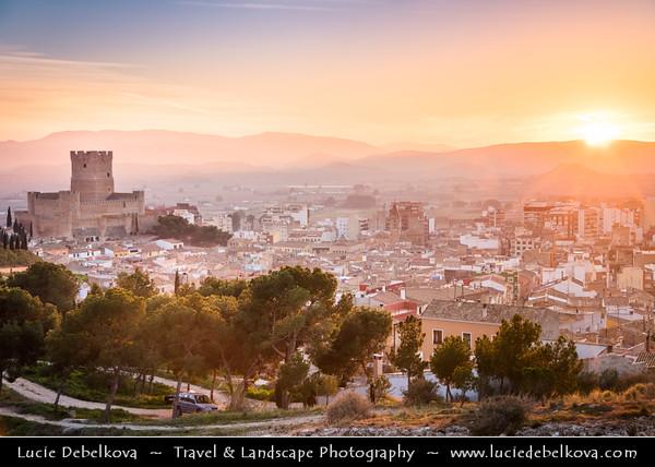 Europe - Spain - España - Alicante Province - Villena - Castle of Villena - Atalaya Castle - Castillo de la Atalaya - Castillo de Villena - Watchtower's Castle -