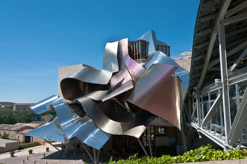 hotel Marques de Riscal - by Frank Gehry -- in Elciego, Spain