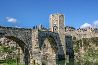 Aqueduct, Besalu, Catalunya, Spain, 2004