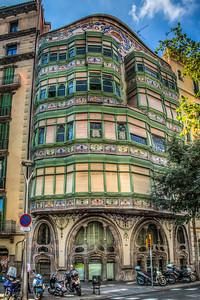 Modernist Buidling, Barcelona, Catalunya, Spain, 2012