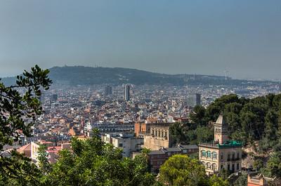 Barcelona Overview, Catalunya, Spain, 2012