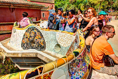 Parc Guell, Barcelona, Catalunya, Spain, 2012