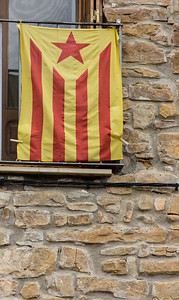 Flag of Independence, Catalunya, Spain, 2012