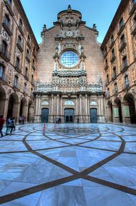 Church Facade, Montserrat, Catalunya, Spain, 2012