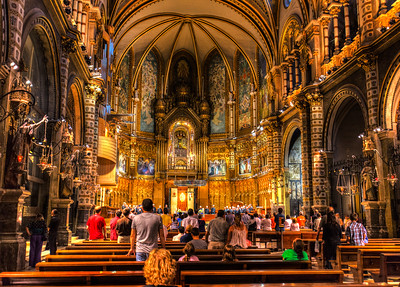 Church Interior, Montserrat, Catalunya, Spain, 2012