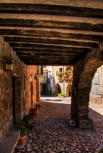 Cobblestones and Arches, Peramea, Catalunya, Spain, 2012