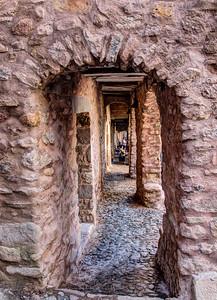 Cobblestones and Arches, Peramea, Catalunya, Spain, 2012