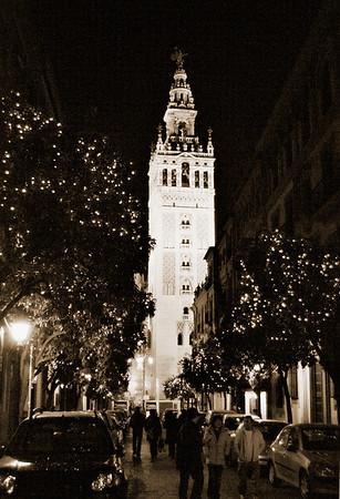 Seville Street Nocturne #7s - Seville, Spain