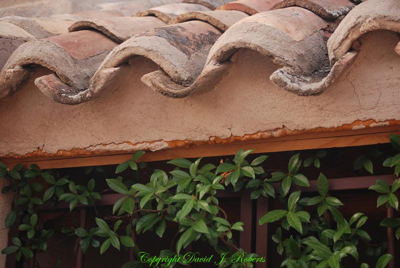 Tile roof, Toledo, Spain
