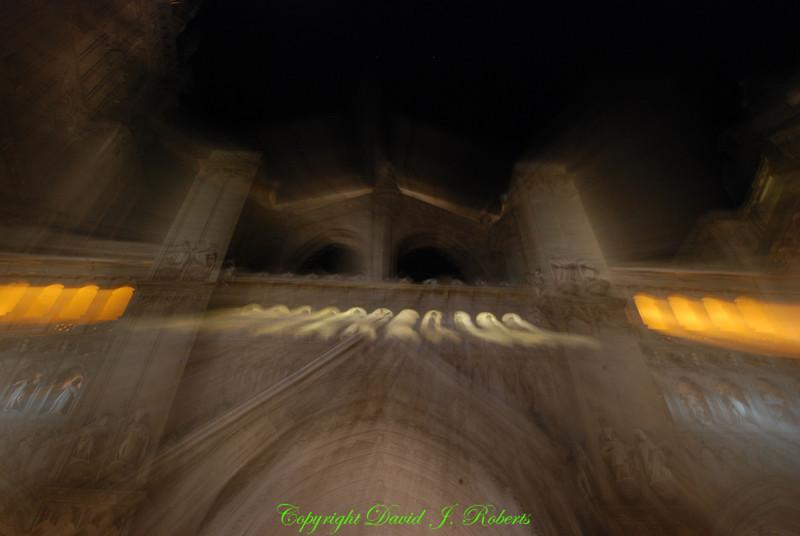 Night scene of cathedral, Toledo Spain