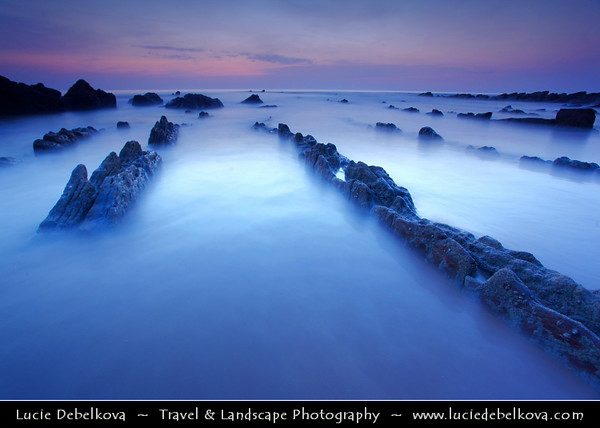 Europe - Spain - España - Basque Country - Zumaia - Zumaya - Unusual rock formations at Algorri Beach