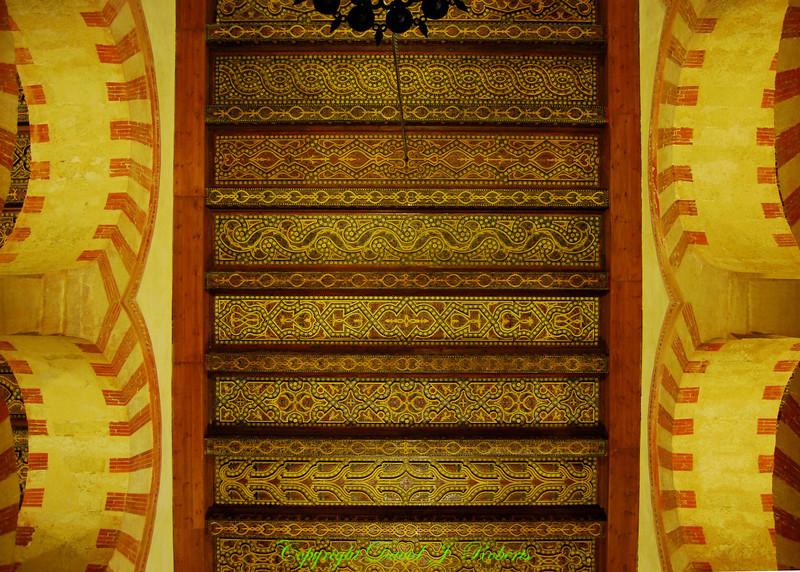 Mezquita, Palace leather ceiling, Cordoba, Spain