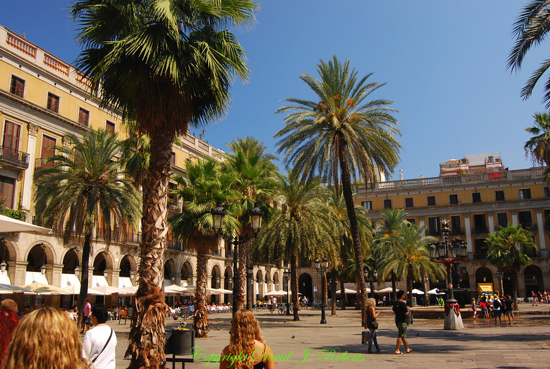 Plazza in Barcelona, Spain
