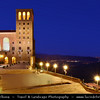 Europe - Spain - España - Catalonia - Santa Maria de Montserrat - Benedictine abbey - Fully-functioning monastery located atop 1200m high (3936-ft.) mountain of Montserrat - Wild & rugged mountain range