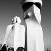 War-like Sculptured Chimney Statues #6a, Gaudi Casa Mila - Barcelona, Spain