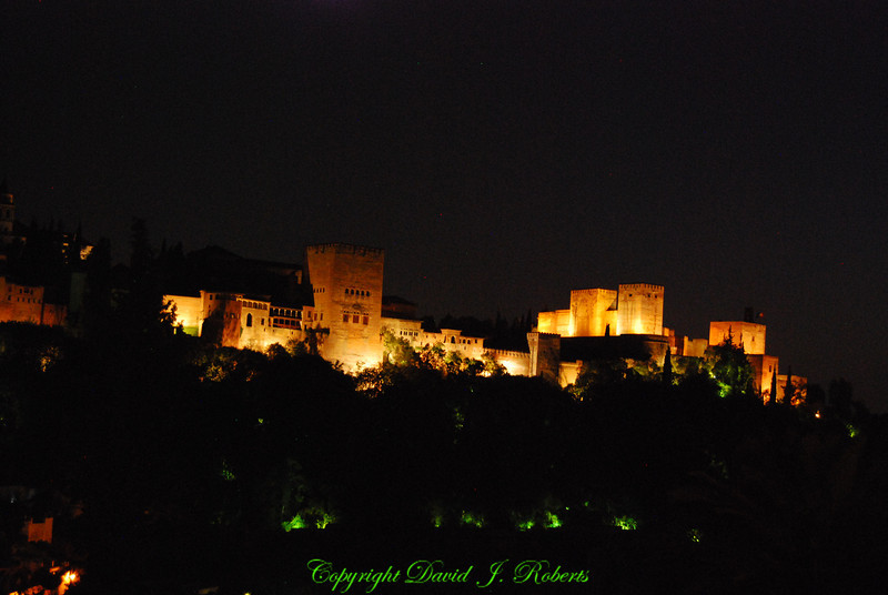 Alhambra at Night, Grenada, Spain