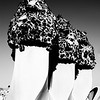 Sculptured Chimneys atop Gaudi Casa Mila #8a - Barcelona, Spain