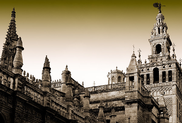 Cathedral of Seville with Buttresses #5s - Seville, Spain