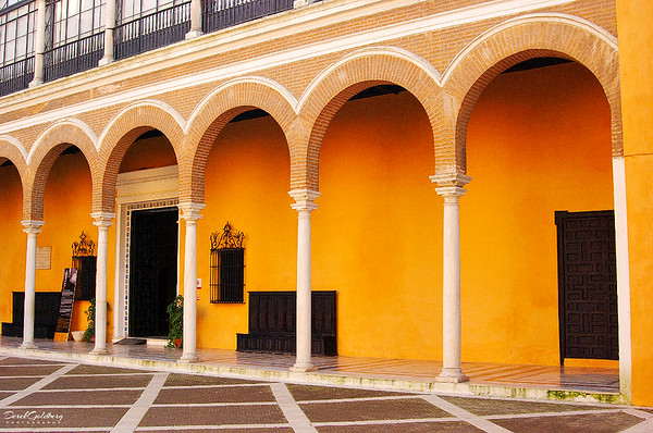 Courtyard Outside the Reales Alcazares - Seville, Spain