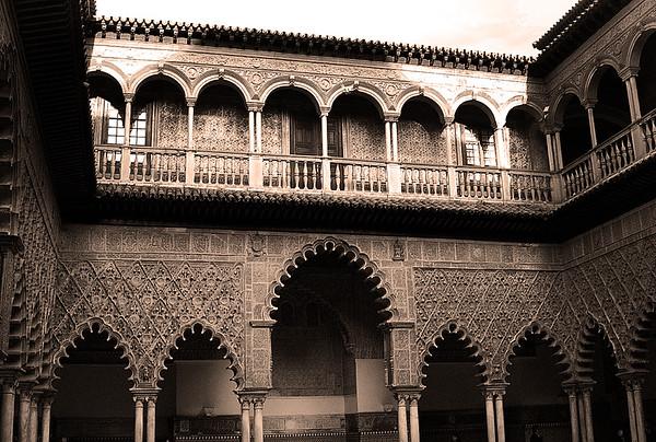 Patio de las Doncellas #4s, Reales Alcazares - Seville, Spain