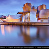 Europe - Spain - España - Basque Country - Biscay Province - Bilbao - Guggenheim Museum Bilbao - Museum of modern & contemporary art designed by Canadian-American architect Frank Gehry - Magnificent example of the most groundbreaking 20th-century architecture