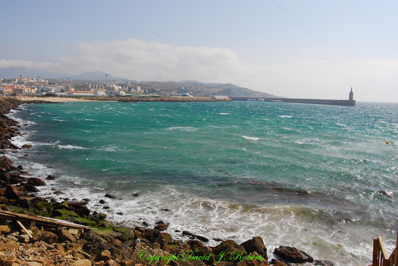 A windy day at Tarifa Harbor, Spain