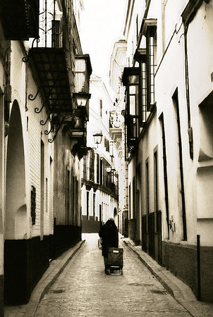 Woman in Alley #1s - Seville, Spain