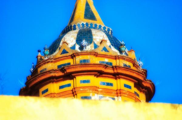 Close Up, Dome of Iglesia de Santa Cruz Church - Seville, Spain